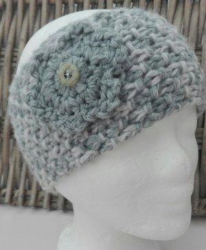 Handmade Knitted Hat light grey-grey