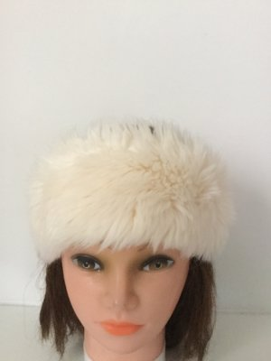 H&M Fur Hat natural white