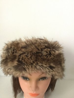 H&M Fur Hat cream-black