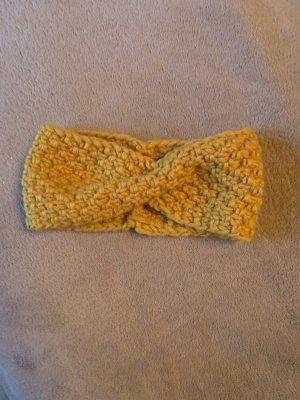 Stirnband in gelb Handarbeit