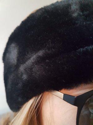 Stirnband Samtoptik schwarz