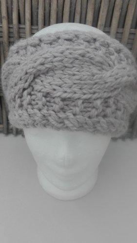 Handarbeit Cappello a maglia marrone-grigio