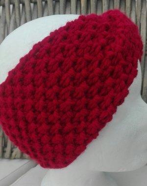 Handmade Cappello a maglia rosso scuro