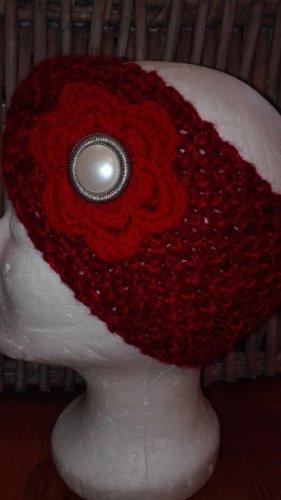 Handarbeit Chapeau en tricot rouge