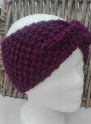 Handarbeit Knitted Hat lilac-dark violet