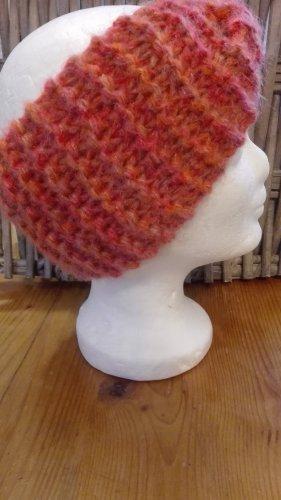 Handarbeit Chapeau en tricot saumon