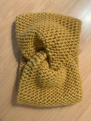 H&M Cache-oreilles jaune foncé laine