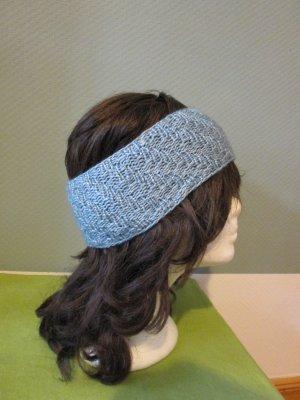 Stirnband winterstirnband handgestrickt eisblau neu