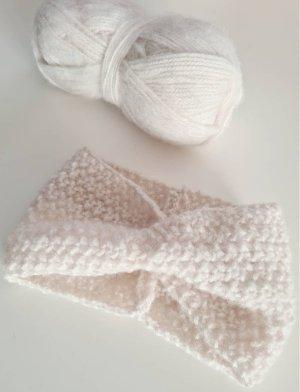 DIY Sombrero de punto blanco puro-crema tejido mezclado