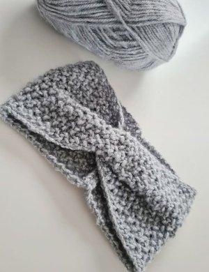 DIY Sombrero de punto gris claro tejido mezclado