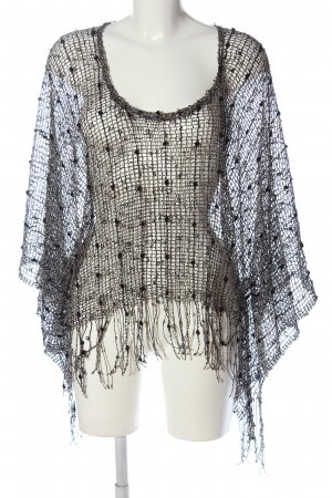 Stitch&Pieces Poncho negro look casual