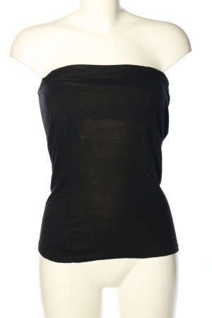 Stitch & Soul Top tipo bustier negro look casual