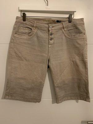 Stitch & Soul Denim Shorts beige-camel