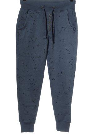 Stitch & Soul Pantalon de jogging bleu imprimé avec thème style athlétique