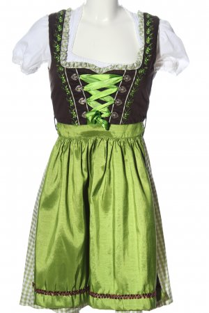 Stockerpoint Dirndl black-gold-colored mixed pattern elegant