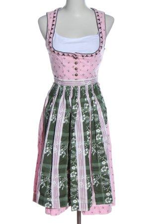 Stockerpoint Dirndl pink-grün Blumenmuster klassischer Stil