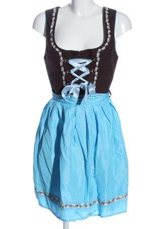 Stockerpoint Dirndl braun-blau Karomuster klassischer Stil