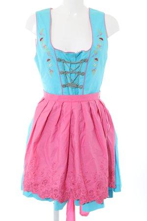 Stockerpoint Dirndl türkis-pink klassischer Stil