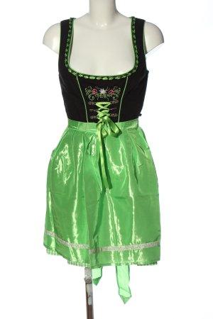 Stockerpoint Dirndl nero-verde motivo a quadri stile classico