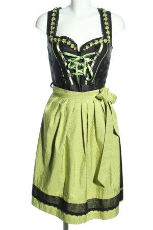 Stockerpoint Dirndl schwarz-grün Punktemuster Elegant
