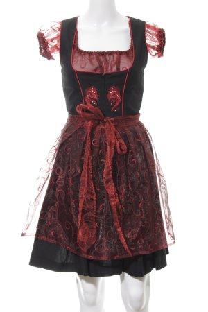 Stockerpoint Dirndl schwarz-rot extravaganter Stil