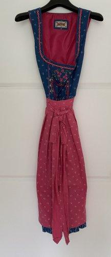 Stockerpoint Dirndl blu-rosa
