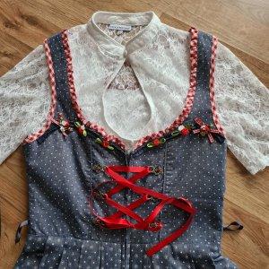 Stockerpoint Dirndl czerwony-ciemnoniebieski