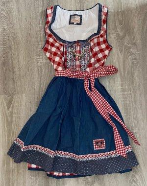 stockerpoint dirndl tracht kleid girly karo muster rot blau