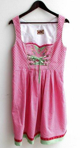 Stockerpoint gebrauchtes Damen Trachten Dirndl ärmellos Gr. 40 rosa weiß kariert TS645