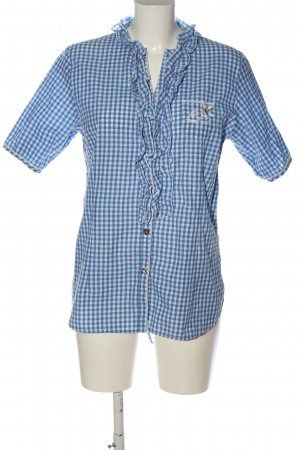Stockerpoint Hemd-Bluse blau-weiß Karomuster Casual-Look