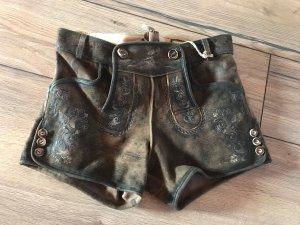 Stockerpoint Traditionele leren broek bruin