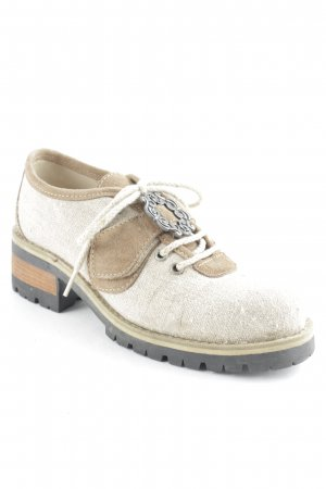 Stockerpoint Schnürschuhe beige-hellbraun Dekoelemente