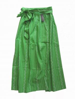 Stockerpoint Delantal folclórico verde-blanco Algodón