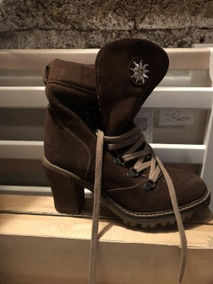 Stockerpoint Lace-up Boots dark brown-cream leather
