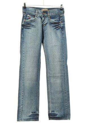Stockerpoint Jeans a gamba dritta blu stile da moda di strada
