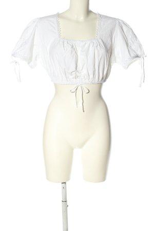 Stockerpoint Blouse bavaroise blanc style décontracté