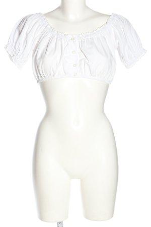 Stockerpoint Blusa tradizionale bianco stile classico