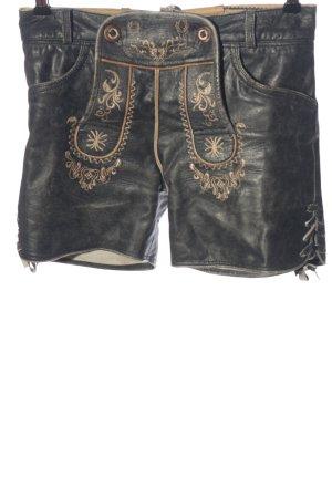 Stockerpoint Tradycyjne skórzane spodnie czarny Styl klasyczny