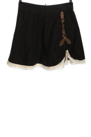 Stockerpoint Traditional Skirt black-natural white elegant