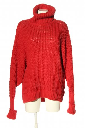 stockholm atelier & other stories Grobstrickpullover rot Casual-Look
