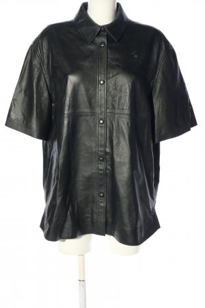 stockholm atelier & other stories Camicia in pelle nero stile casual