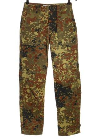 stockholm atelier & other stories Stoffhose khaki-braun Camouflagemuster