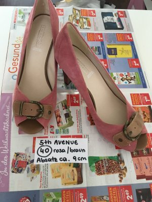 5th Avenue Peep Toe Pumps rose-gold-coloured-camel