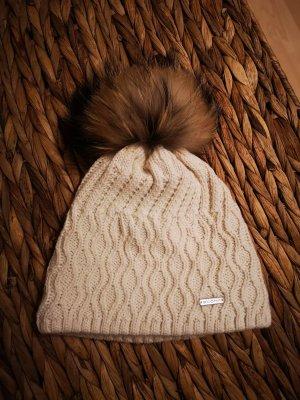 stöhr Sombrero de piel blanco puro-beige claro