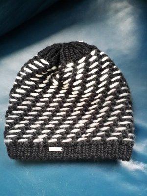 stöhr Knitted Hat black-white wool
