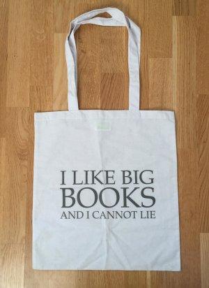 """Stoff-Beutel mir witzigem Spruch """"I like big books"""""""