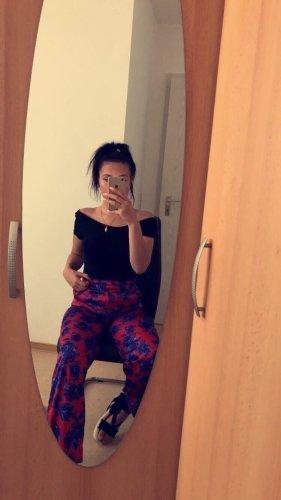 NA-KD Falda pantalón de pernera ancha rojo-azul