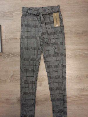 100% Fashion Pantalon en jersey gris polyester