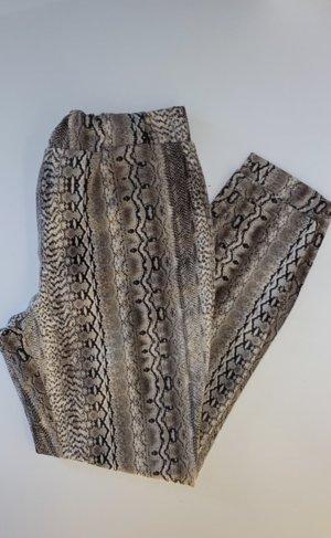 Stoff Hose mit Schlangen Print