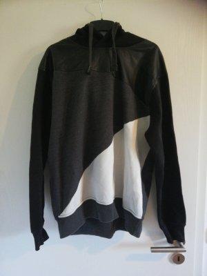 Stoff-Leder Pullover
